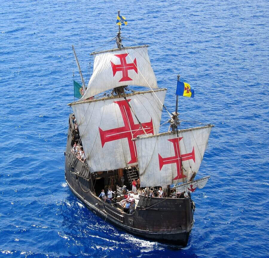image of replica of columbus's ship