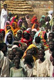 Refugees in Menawashi, Darfur