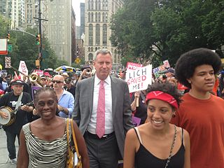 Mayor Bill de Blasio and family