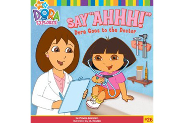 book for child afraid of doctor, Dora Goes to Dr