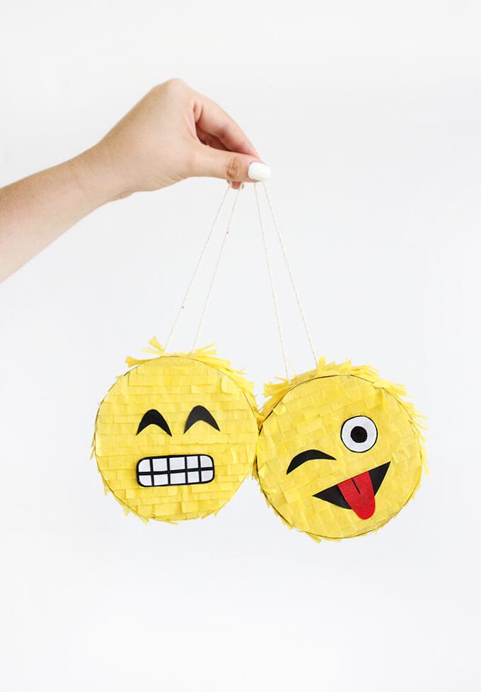 emoji pinata craft party favor
