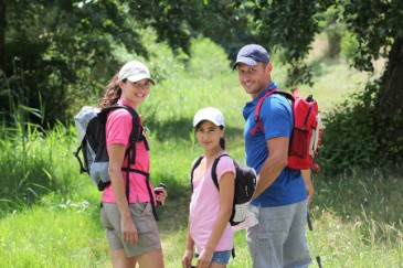 Fathers Day activities, family on a hike