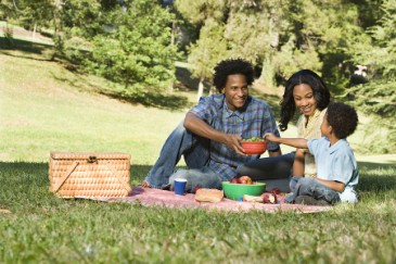 Thoughtful Mothers Day gift, family enjoying picnic in the park