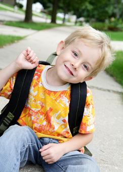 Child ready for kindergarten