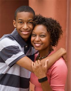 Teen Hugging Mother