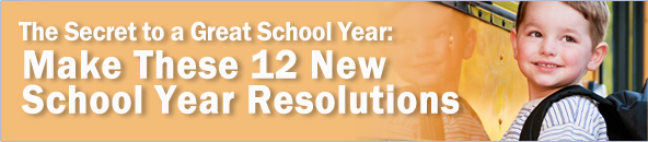 Young Boy Going to School - 12 New School Resolutions
