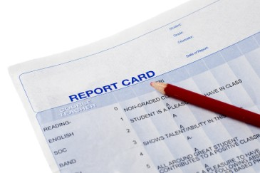 End of School Year, report card