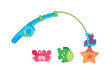 First Fathers Day gift ideas, baby bath toy fishing pole