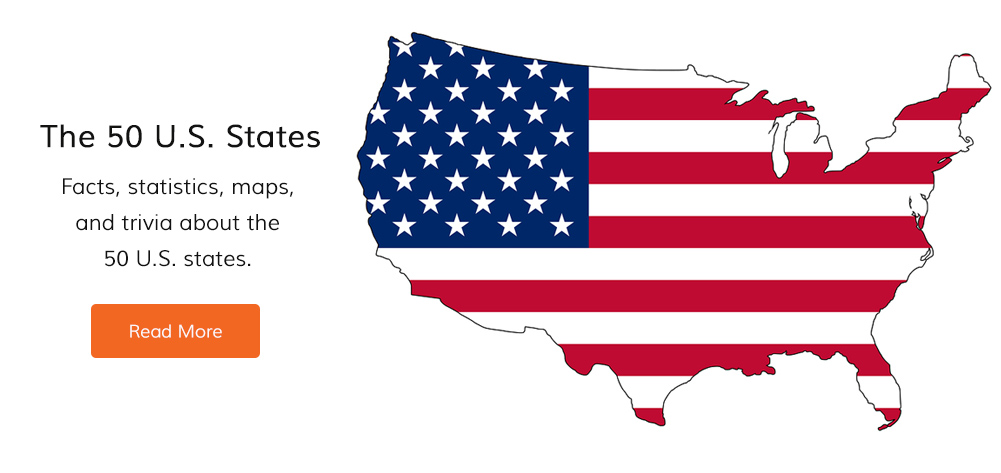 Facts, statistics, maps, and trivia about the 50 U.S. states.