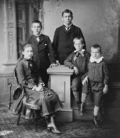 James Rudolph Garfield (first boy from left)