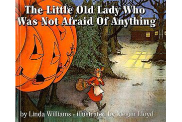 Halloween children's book, Little Old Lady Who Was Not Afraid of Anything