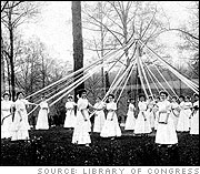 Girls Around the Maypole