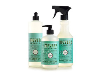 green christmas gift, mrs. Meyers cleaning products