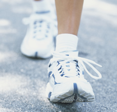 feet walking for prenatal exercise