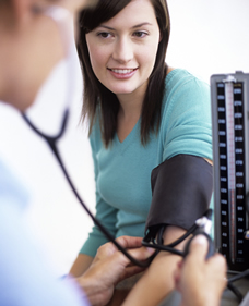 prenatal blood pressure check