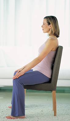 pregnant woman sitting posture
