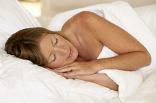 warm pregnant woman sleeping