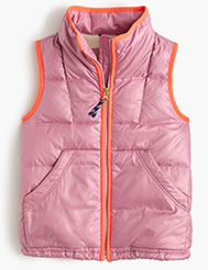girls quilted puffer vest