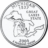 State Quarter of Michigan (reverse)