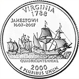 State Quarter of Virginia (reverse)