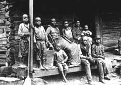 Slaves in an Alabama cabin