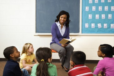 ADHD treatment options, teacher reading to grade school kids