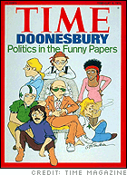 Doonesbury, on the cover of TIME Magazine (1976)