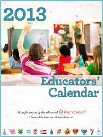 2013 Educators' Calendar