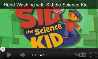 Video: Hand Washing with Sid the Science Kid