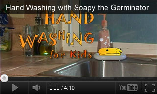 Video: Hand Washing with Soapy the Germinator