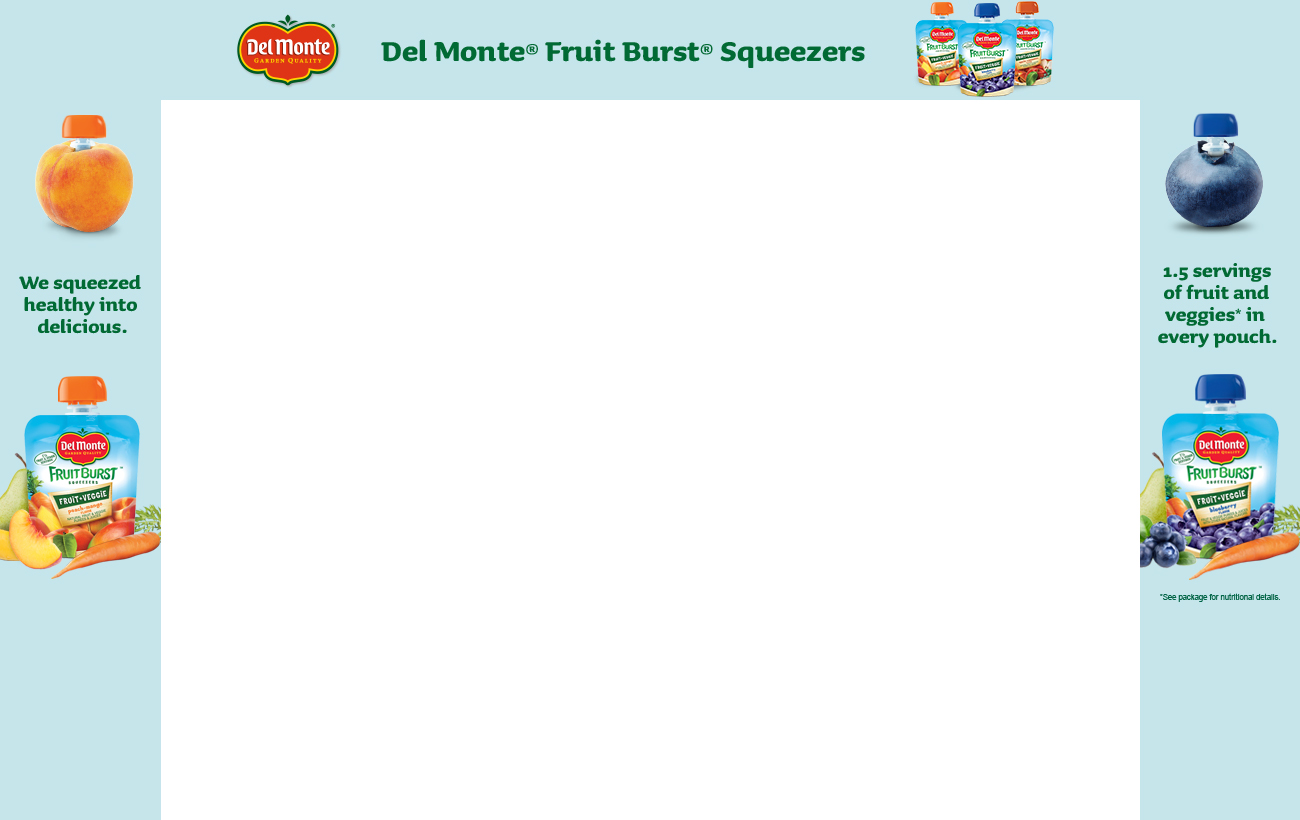 Del Monte Fruit Bursts Squeezers