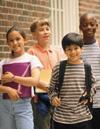 Students outside school