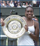 2008 Wimbledon Women's Singles Champion Venus Williams