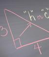 Geometry problem on chalk board