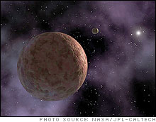 Artist rendition of the planetoid Sedna