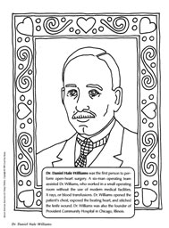 ColoringPage,Dr.DanielHaleWilliams