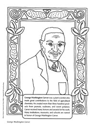 ColoringPage,GeorgeWashingtonCarver