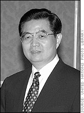 Presindent of the Peoples Republic of China Hu Jintao