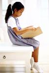 Female student reading