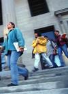 High school students leaving school