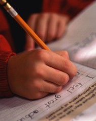 Childpracticingwritingskills
