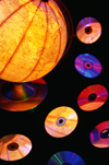 Compact discs and globe