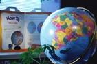 Globe and book