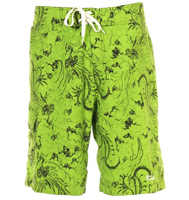 Lime green board shorts