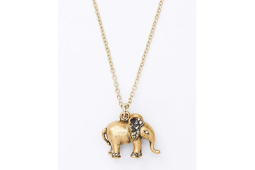 teacher gift, elephant pendant necklace