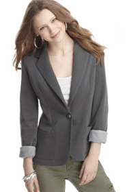 Stock image of fitted blazer