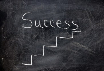 Success written on chalkboard