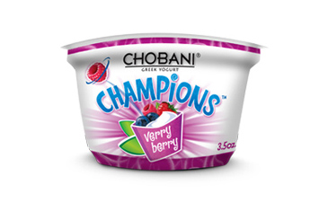 Healthy nut free school snack, Chobani yogurt