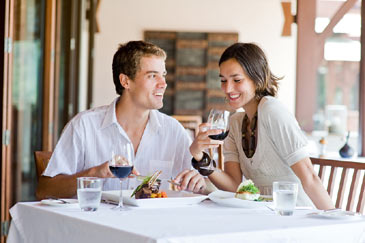 CoupleEatinginaRestaurant,Dining
