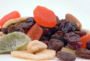 Dried Fruit Mix on White Background